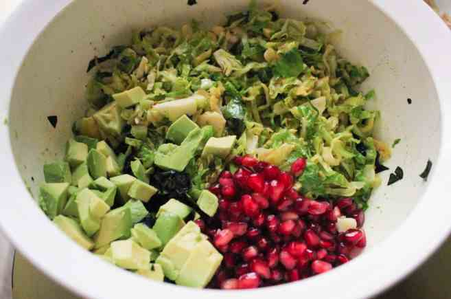 massaged-kale-and-shaved-brussels-sprouts-salad-with-pomegranate-and-avocado-step-5