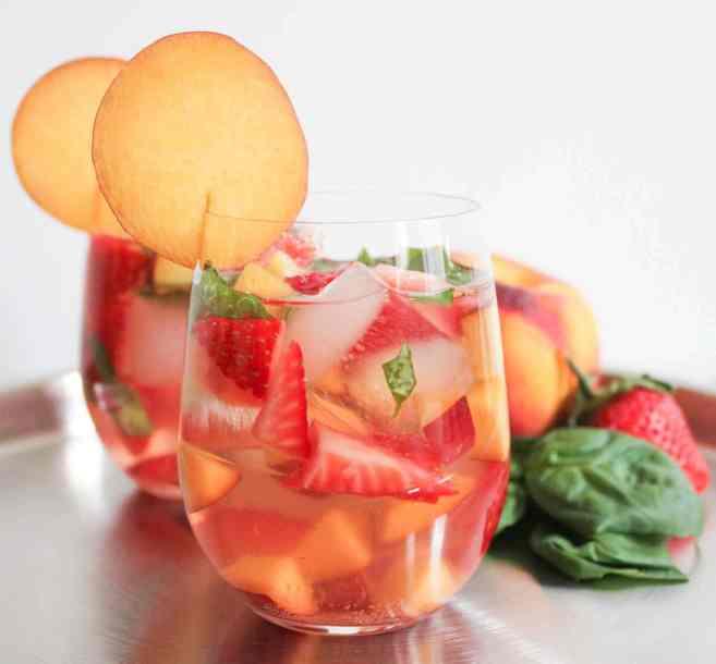 rose-sangria-strawberries-peaches-basil-recipe