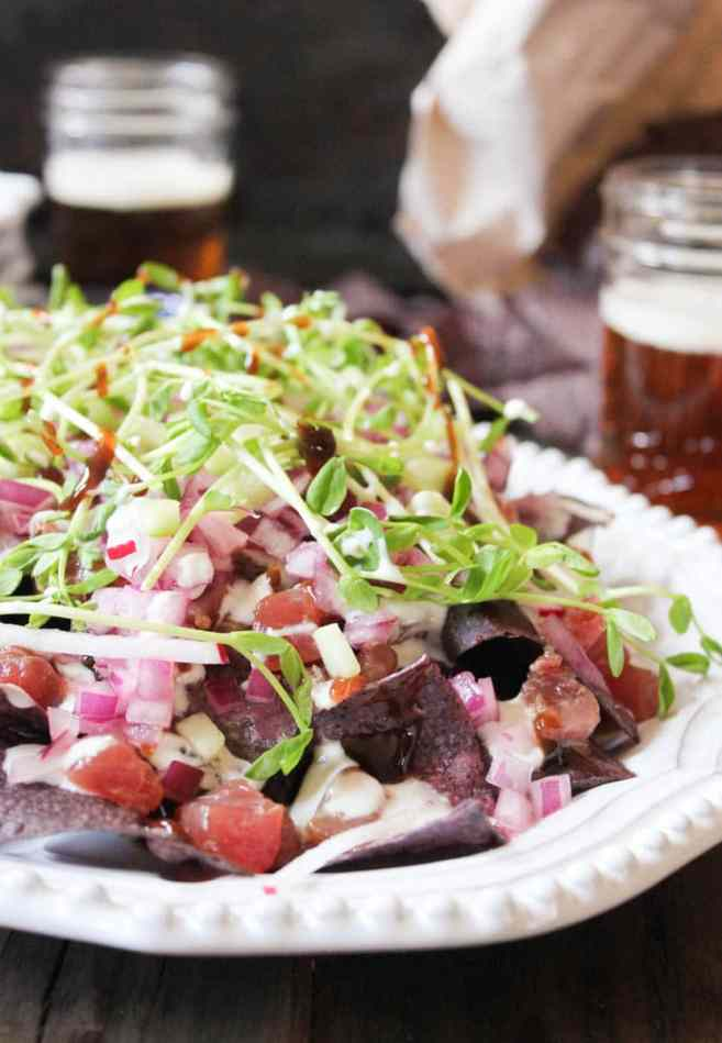 Ahi-Nachos-with-pickled-red-onion-wasabi-crema