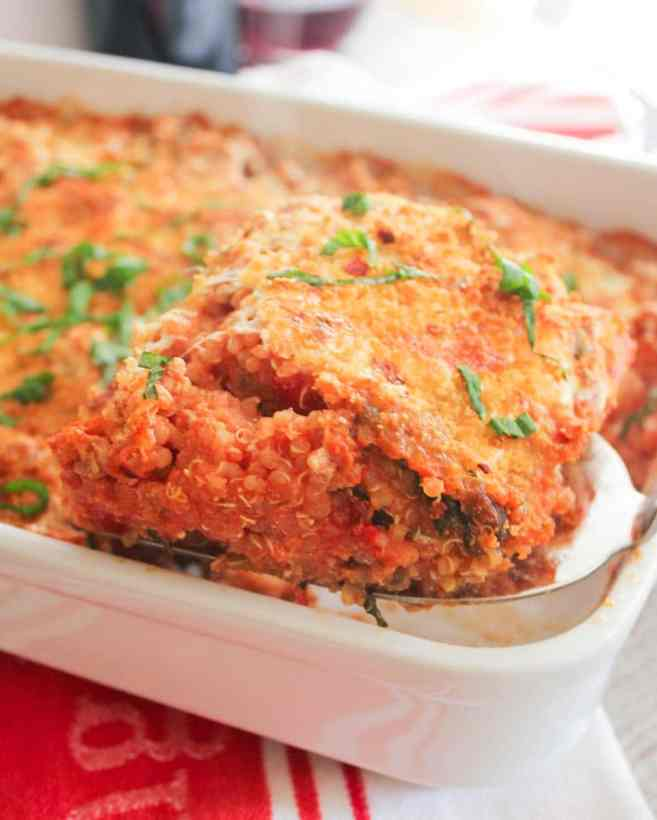 Lasagna-quinoa-bake-with-chicken-spinach-and-mushrooms-9