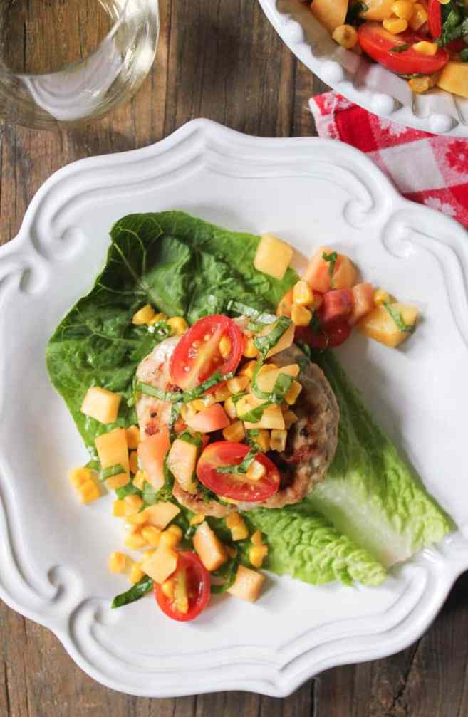 chicken-and-goat-cheese-burgers-with-peaches-corn-and-cherry-tomatoes-6
