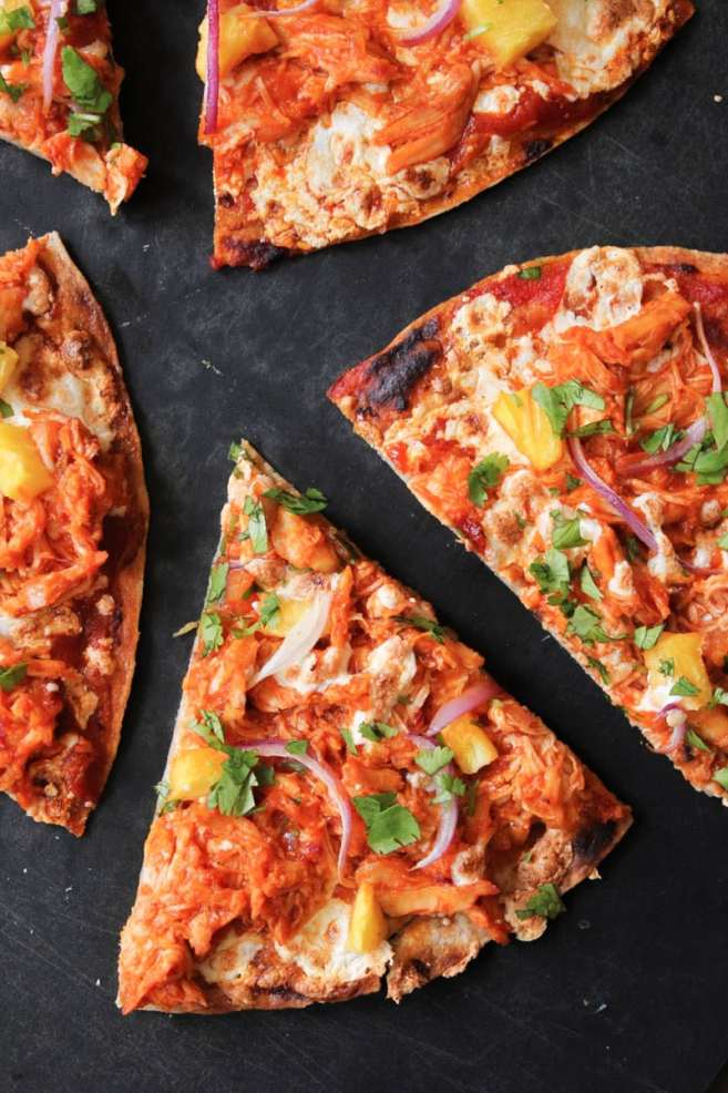 chipotle-chicken-tortilla-pizzas-with-pineapple-and-cilantro-11