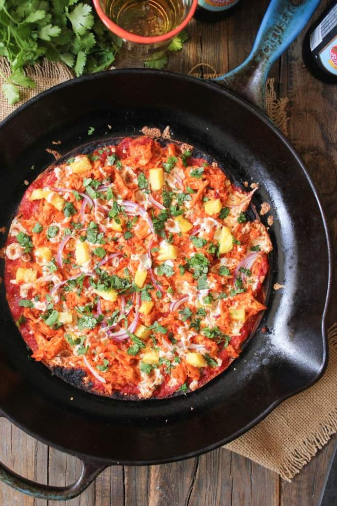 chipotle-chicken-tortilla-pizzas-with-pineapple-and-cilantro-9