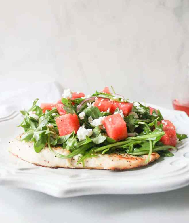 chicken-paillard-with-arugula-and-watermelon-salad