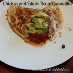 Chicken and Black Bean Quesadilla