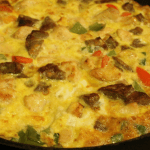 Chicken and Sausage Frittata