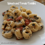 Spinach and Tomato Tortellini