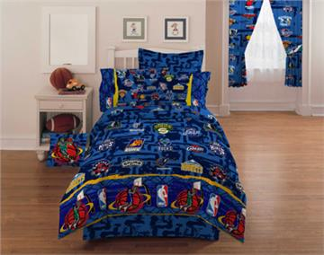 nba hoops kids basketball bedding for