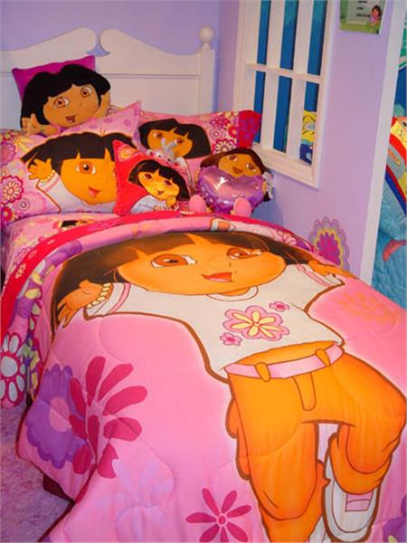 DORA WHAT A DAY TO EXPLORE Bedding for Girls Pillowcase