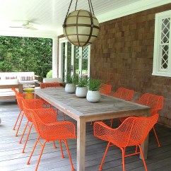 Orange Cafe Chairs Big And Tall Outdoor Painting Our Dining Domestic Daddy