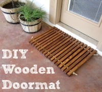 Wooden Welcome Mat - Domestic Imperfection