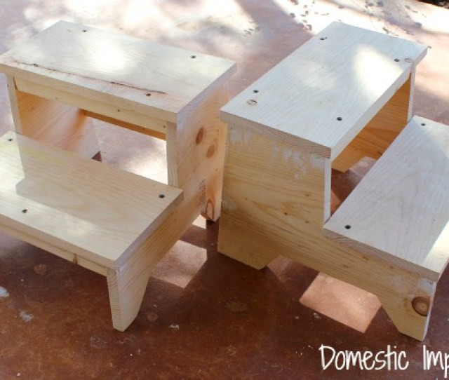 Building Childrens Stepstools Following Anna Whites Plans