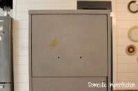 $5 File Cabinet Makeover - Domestic Imperfection