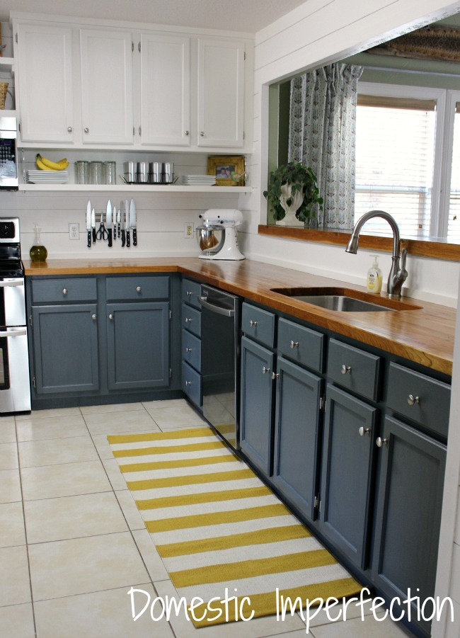 farmhouse kitchen cabinets outdoor grills on a budget the reveal domestic imperfection grey white and yellow