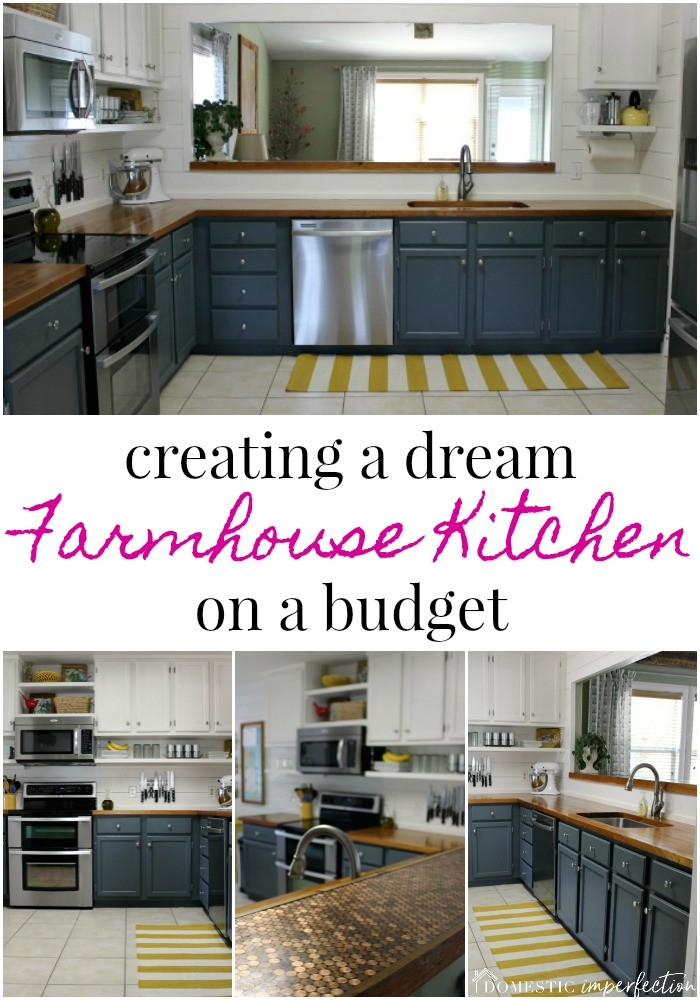 kitchen on a budget white table sets farmhouse the reveal domestic imperfection create of your dreams