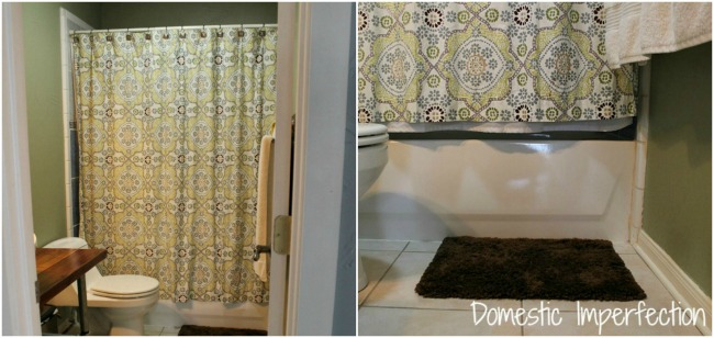 Adding Length to a Shower Curtain  Domestic Imperfection