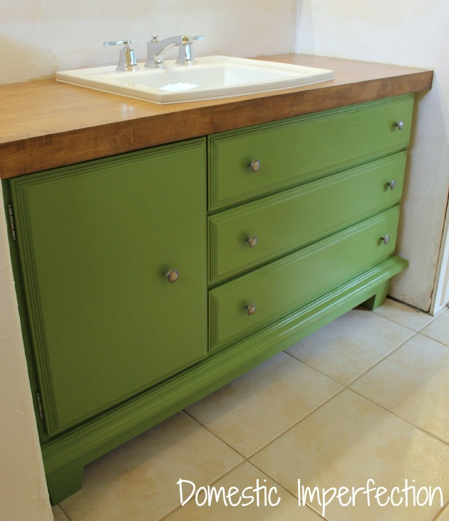 How To Turn A Dresser Into A Bathroom Vanity Domestic Imperfection