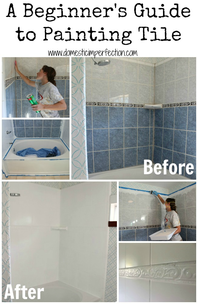 how to refinish outdated tile (yes, i painted my shower