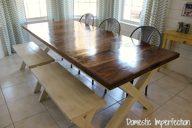farmhouse table and chairs with bench evenflo modern kitchen high chair why you should always listen to pottery barn a story metal