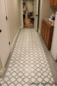 Stenciling a Concrete Floor - Domestic Imperfection