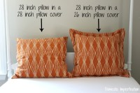 Sewing a Euro Sham Pillow with Flanges - Domestic Imperfection