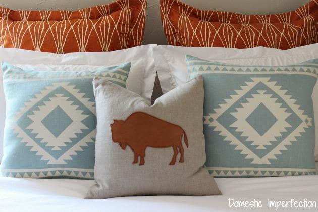 modern southwestern guest room bedding