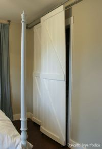 Double bypass sliding barn door system