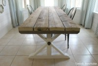 Rustic Picnic Style Dining Table - Domestic Imperfection