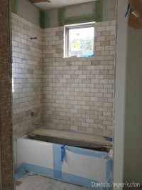 Grout mistakes and installed bathroom tile