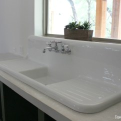 Kitchen Sinks With Drainboard Built In And Bath Magazine The Search For A Vintage Farmhouse Sink - Domestic ...