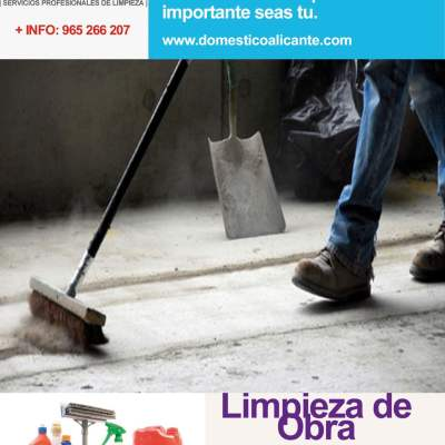 bono-limpieza-obra Limpieza del Hogar - Doméstico Alicante
