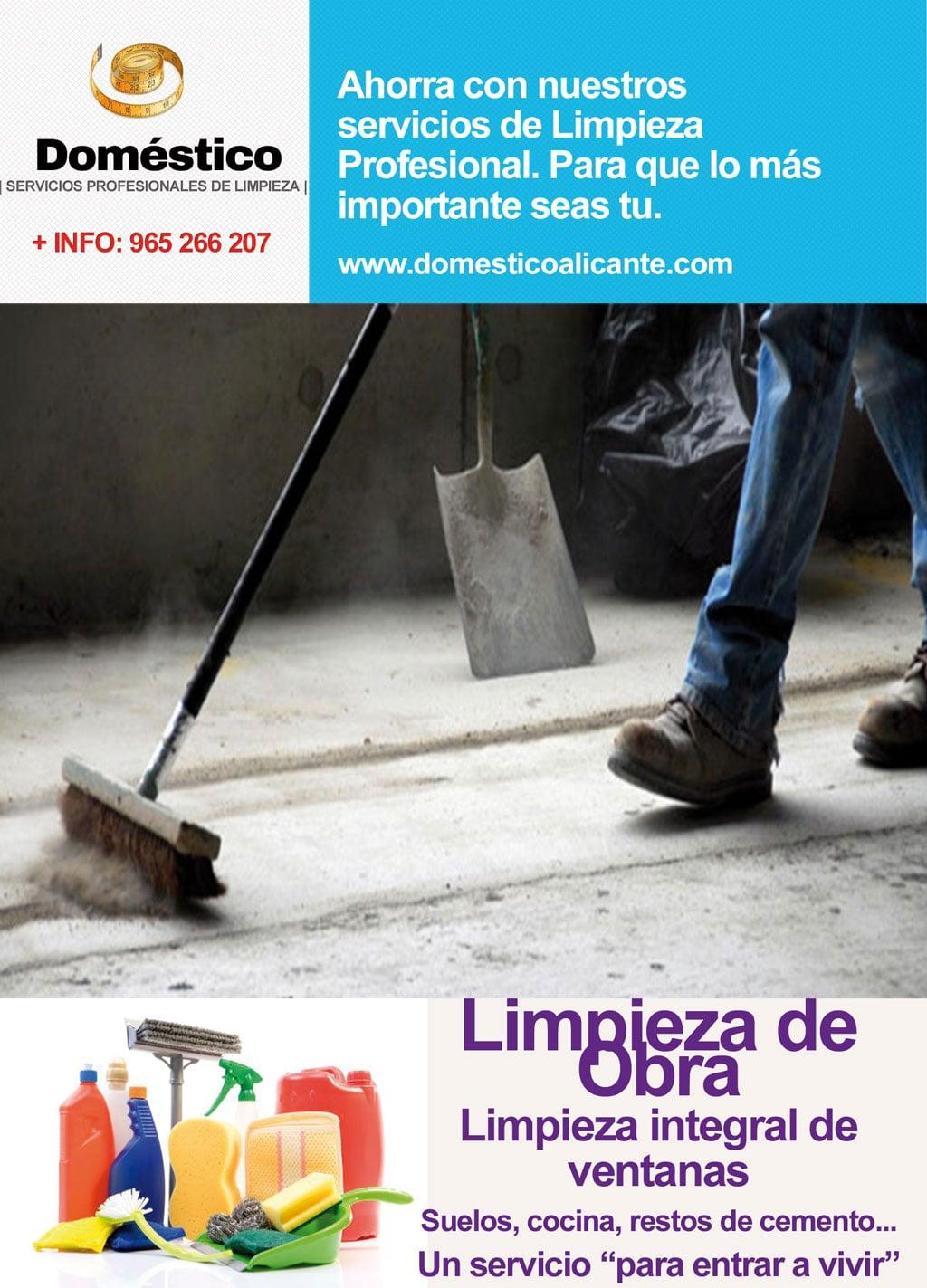 bono limpieza de obra