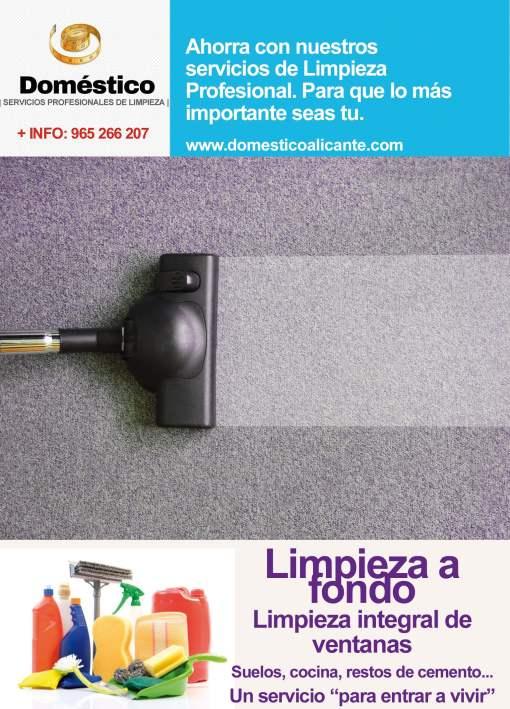 Limpieza a fondo - Doméstico Alicante