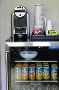 Complimentary beverage center