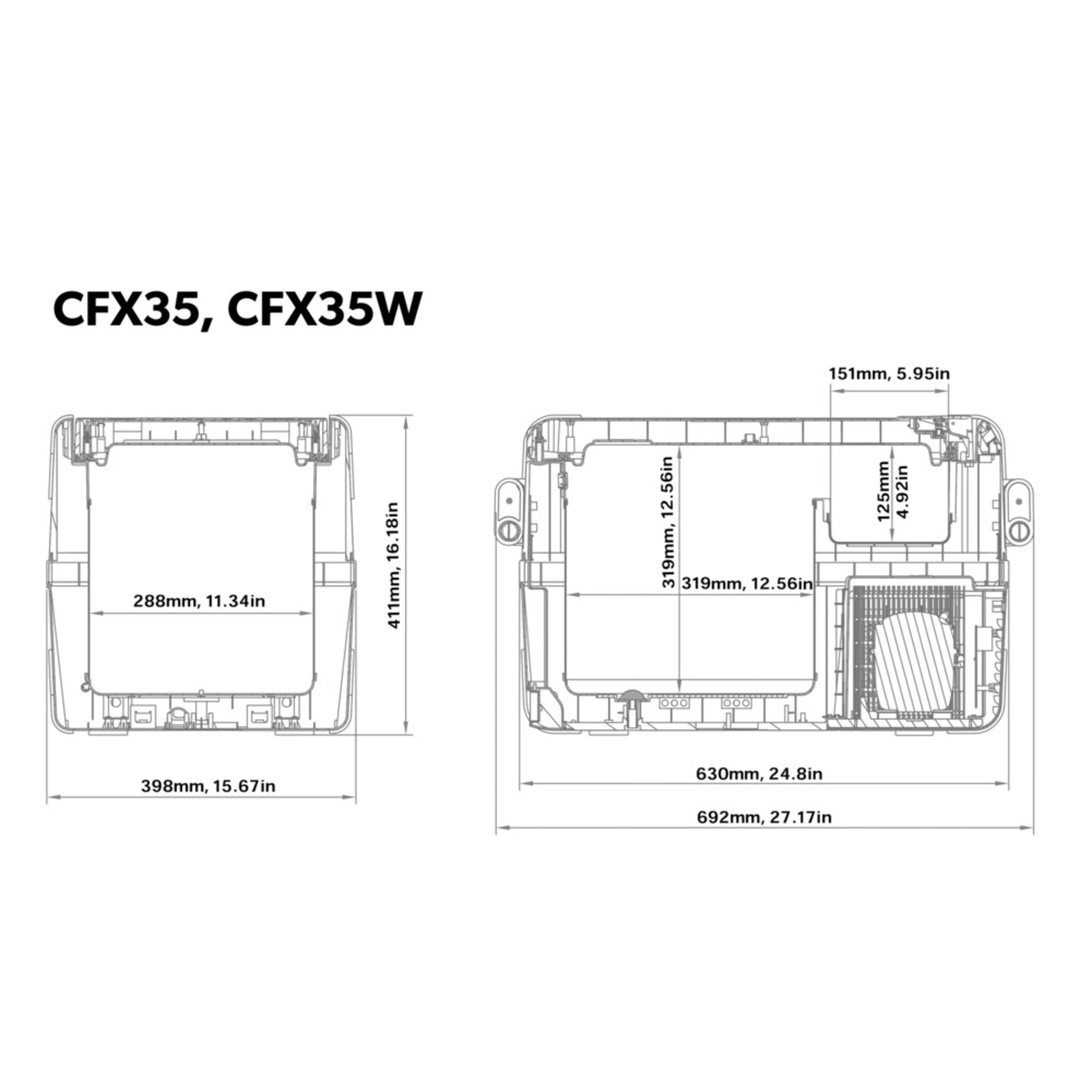 hight resolution of cfx 35w dimensions