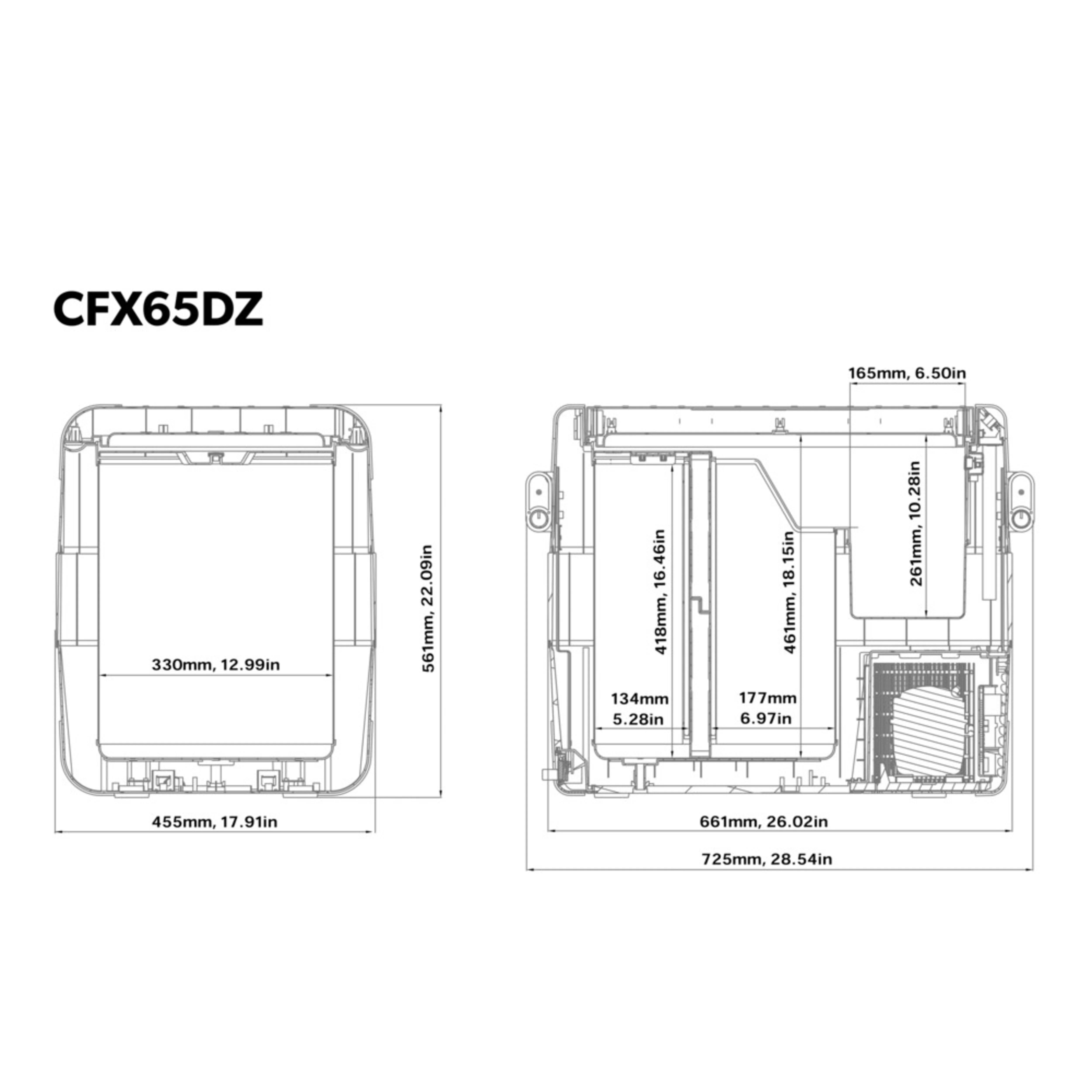 small resolution of cfx 65dz dimensions