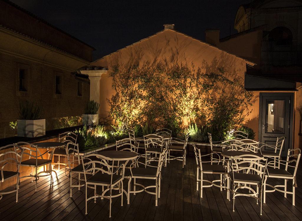 Ristorante con Terrazza Panoramica Roma  DOM Hotel