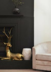 Why I Painted My Fireplace Facade Black - Domicile 37