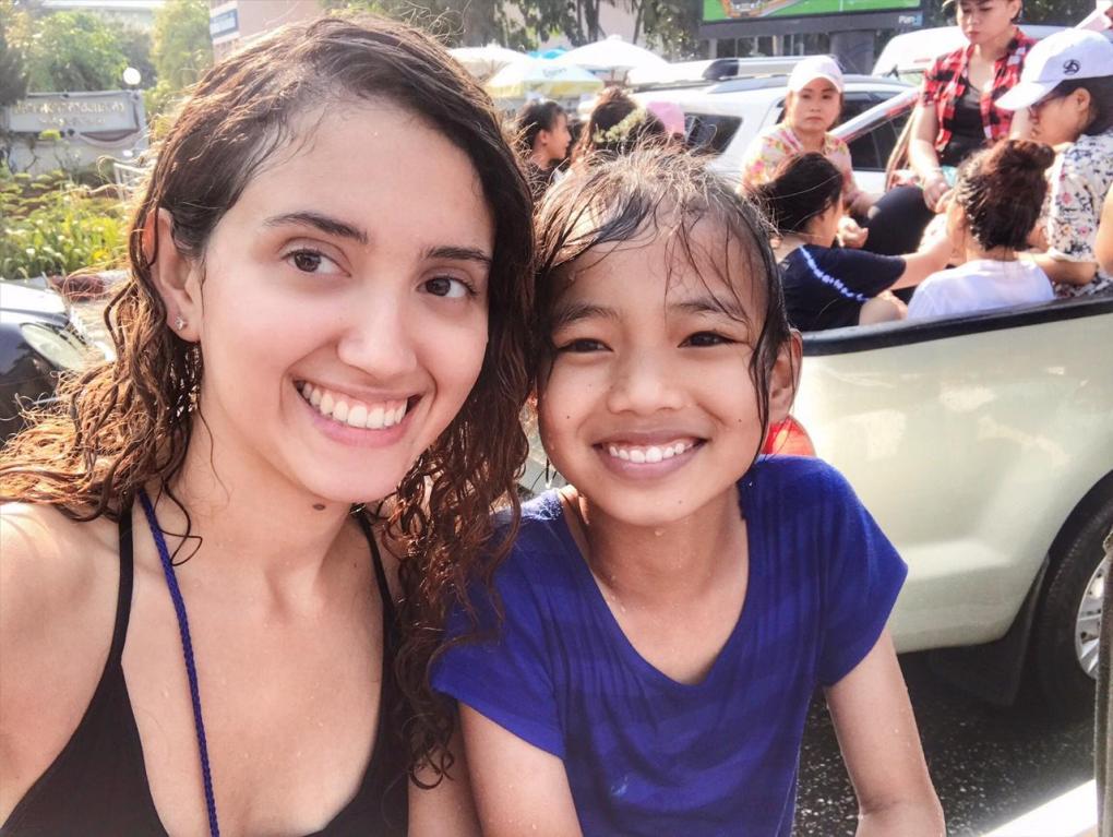 Thai Children Songkran Fun