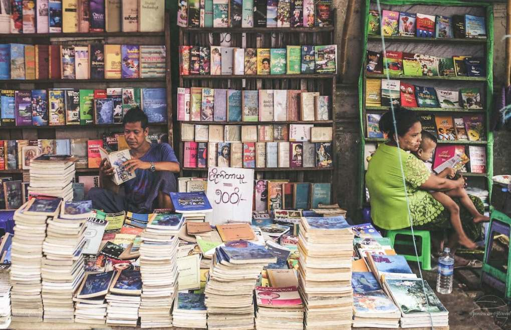 myanmar book stands