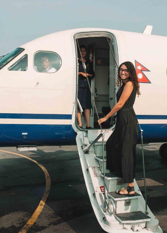 boarding everest flight