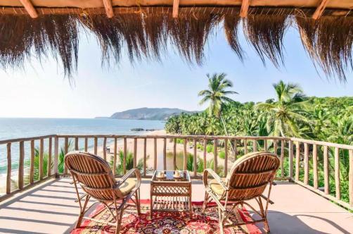 a beautiful airbnb cabin in cola beach goa