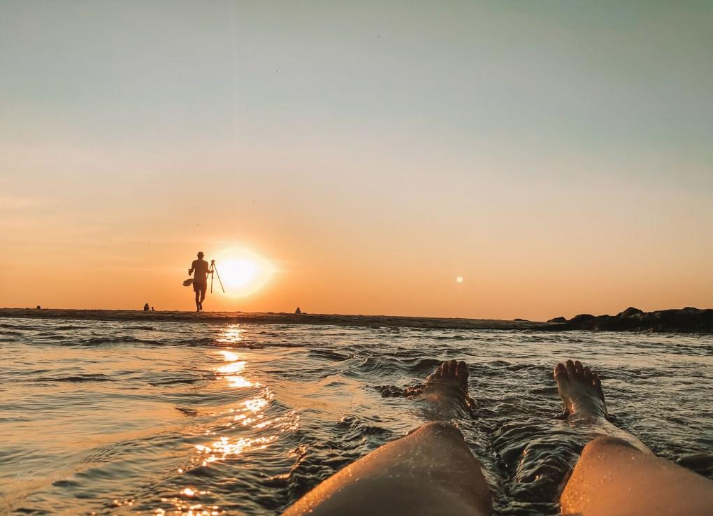 sunset cola beach