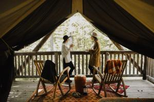 glamping in the woods of the finger lakes ny