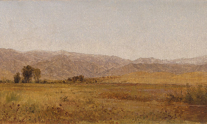 Image: John Frederick Kensett, Snowy Range and Foothills from the Valley of Valmo
