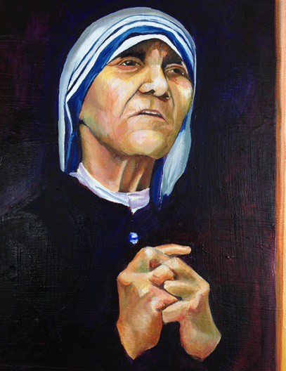 Mother Teresa painting, by Michele Gautsch
