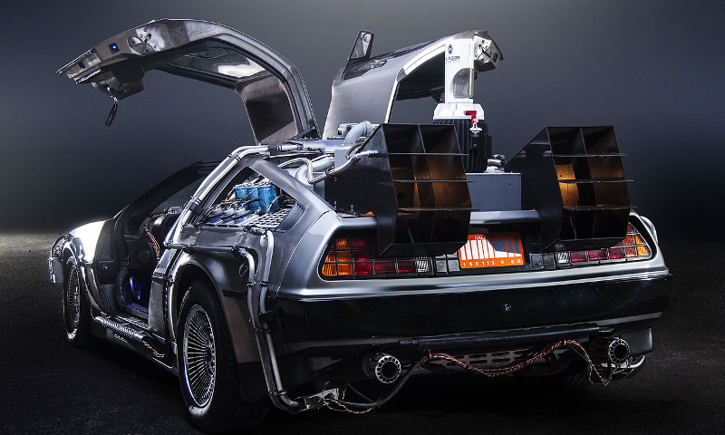 JMortonPhoto.com & OtoGodfrey.com, Back to the Future DeLorean Time Machine (CC BY-SA 4.0)
