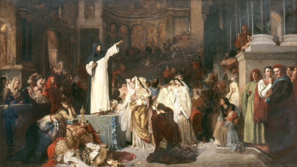 Ludwig von Langenmantel — Savonarola Preaching Against Prodigality