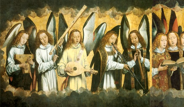 Hans Memling, Christ Surrounded by Musician Angels