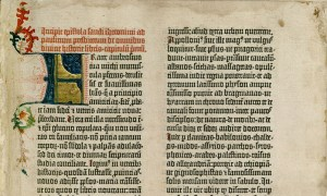 The Epistle of St. Jerome in the Gutenberg Bible